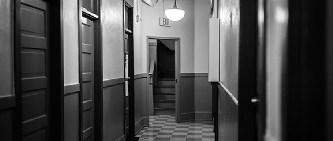 Interior hall of a SRO building