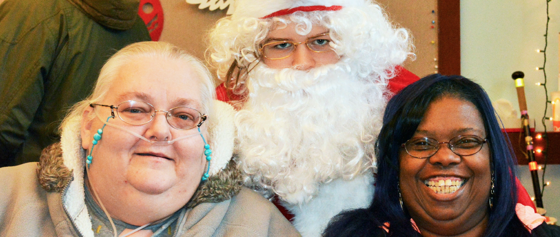Jackie and Diann with Santa